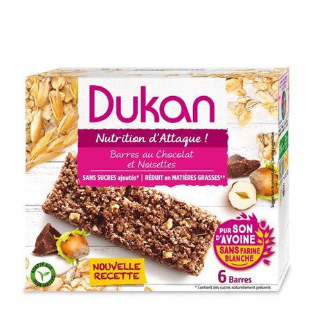 Dukan Μπάρες βρώμης με επικάλυψη σοκολάτας και σπόρους Chia, 111 γρ.