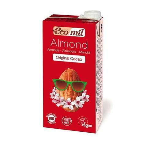 Ecomil Γάλα Αμυγδάλου με Σιρόπι Αγαύης & Κακάο 1 lt