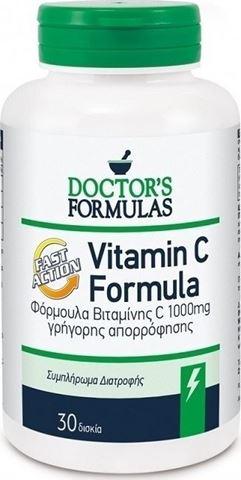 Doctor's Formulas Vitamin C 1000 Formula 30 Δισκία