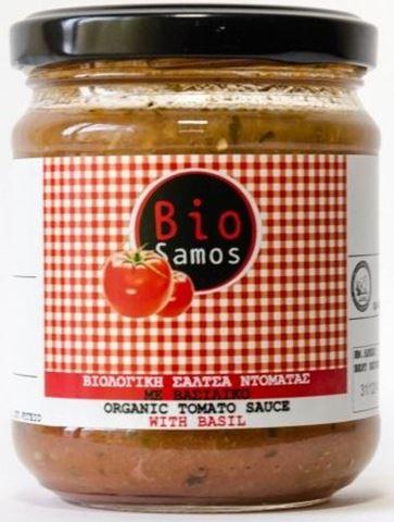 Bio Samos Βιολογική Σάλτσα Ντομάτας με Βασιλικό 220γρ