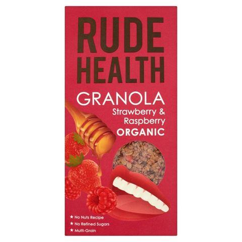 Rude Health Granola Φράουλα & βατόμουρα Βιολογικά 450γρ
