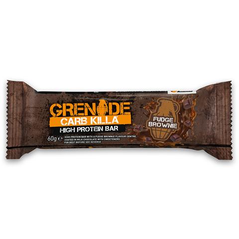 Grenade Carb Killa Μπάρες Υψηλής Πρωτεΐνης Fudge Brownie, 60 γρ.