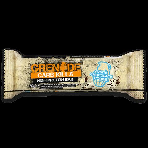 Grenade Carb Killa Μπάρες Υψηλής Πρωτεΐνης White Chocolate Cookie, 60 γρ.