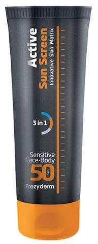 Frezyderm Active Sun Screen Face - Body Cream SPF 50, 150ml