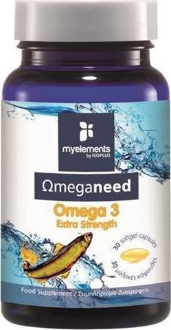 My Elements Ωmeganeed Omega 3 Extra Strenght 30 Μαλακές Κάψουλες