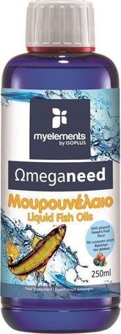 My Elements Ωmeganeed Μουρουνέλαιο 250ml Φρούτα του Δάσους