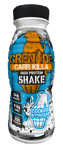 Grenade Carb Killa Σοκολατούχο Ρόφημα Γάλακτος Υψηλής Πρωτεΐνης Cookies and Cream 330ml