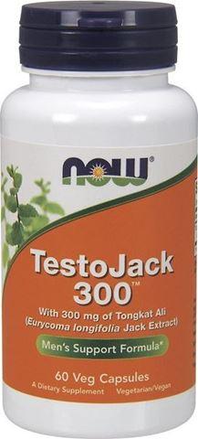 Now Foods TestoJack 300, 60 Φυτικές Κάψουλες