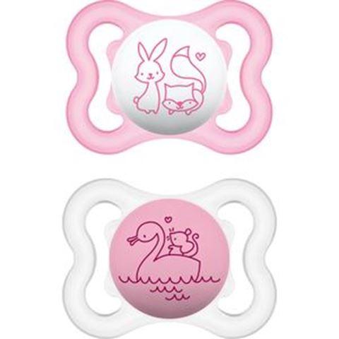 MAM Air Θηλή Σιλικόνη, 0-6 Μηνών, Για Κορίτσι 120S, Συσκευασία των 2 Τεμαχίων
