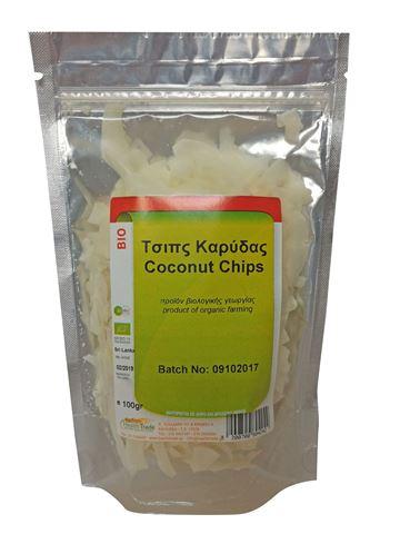 Health Trade Τσίπς Καρύδας (Coconut Chips) ωμό ΒΙΟ 100γρ