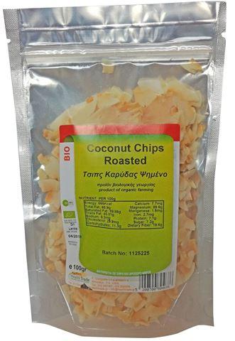 Health Trade Τσίπς Καρύδας Ψημένο (Coconut Chips) ΒΙΟ 100γρ