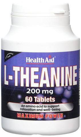 Health Aid L-Theanine 200mg, 60 Ταμπλέτες