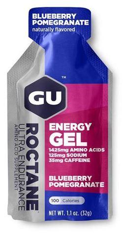 Ενεργειακό gel GU ROCTANE - Γεύση Μούρο-Ρόδι (Blueberry-Pomegranate) - καφεΐνη 35mg, 32gr