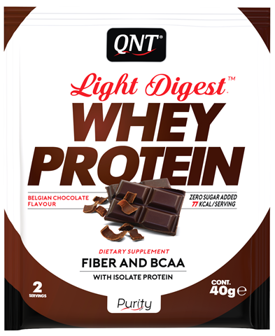 QNT Light Digest Whey Protein Belgian Chocolate, 40gr