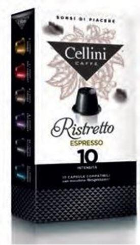 Cellini (Συμβατές με Nespresso) Καφές Ristretto Espresso 10 Κάψουλες