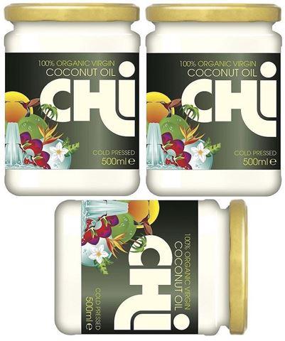 CHI Λάδι Καρύδα, Organic Raw 500ml 2+1 ΔΩΡΟ