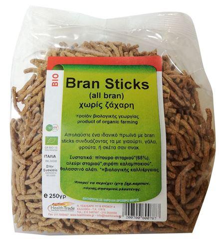 Health Trade Bran Sticks Χωρίς Ζάχαρη 250γρ