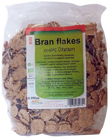 Health Trade Bran Flakes Χωρίς Ζάχαρη 250γρ