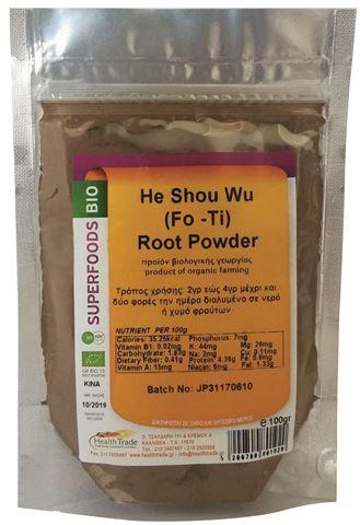 Health Trade He Shou Wu (Fo-Ti) Powder 100g