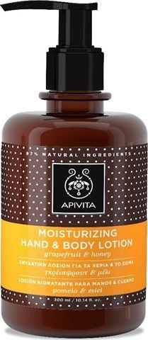 Apivita Ενυδατική Λοσιόν για Χέρια & Σώμα Γκρέιπφρουτ & Μέλι 300ml