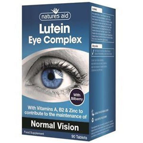 Natures Aid Lutein Eye Complex (10mg Lutein, Bilberry & Alpha Lipoic Acid), 30 Ταμπλέτες