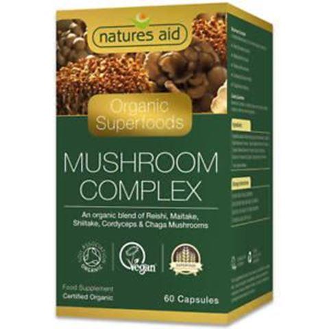 Natures Aid Mushroom Complex (Organic) 141720 60 Φυτικές Κάψουλες