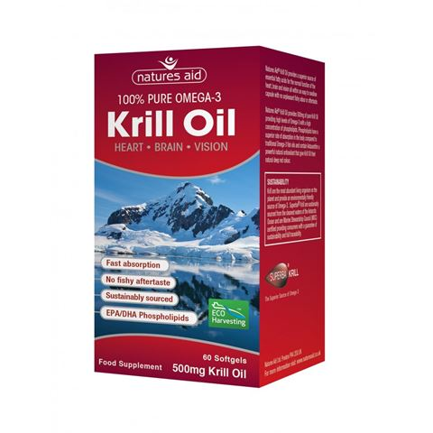 Natures Aid Krill Oil 500mg (Superba) 60 Μαλακές Κάψουλες