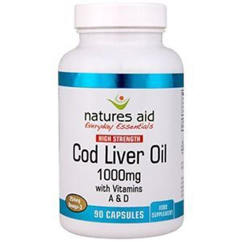 Natures Aid Cod Liver Oil (High Strength) 1000mg 90 Μαλακές Κάψουλες
