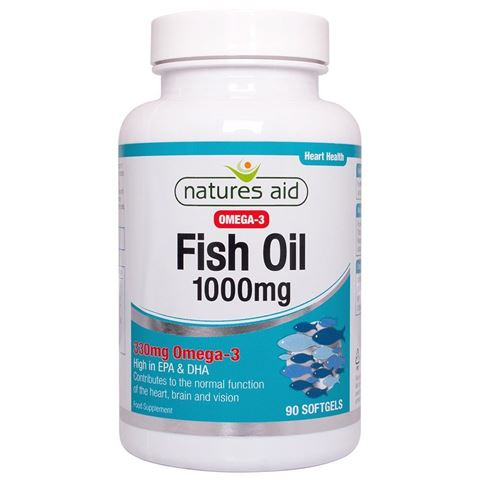 Natures Aid Fish Oil 1000mg (Omega-3) 90 Μαλακές Κάψουλες