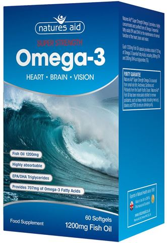 Natures Aid Super Strength Fish Oil (Omega-3) 60 Μαλακές Κάψουλες