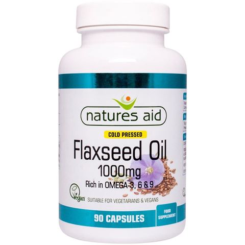 Natures Aid Flaxseed Oil 1000mg, 90 Μαλακές Κάψουλες