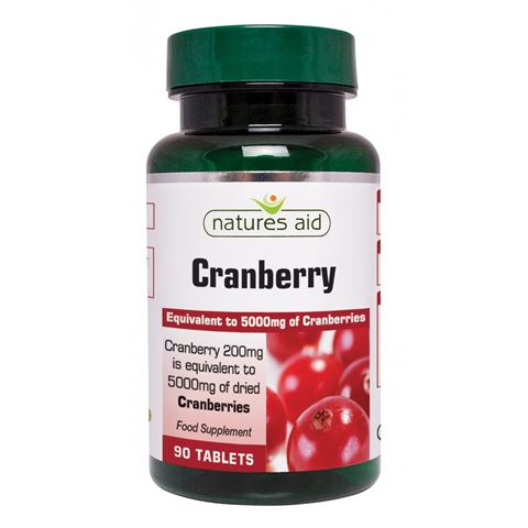 Natures Aid Cranberry 200mg (5000mg equiv), 90 Ταμπλέτες