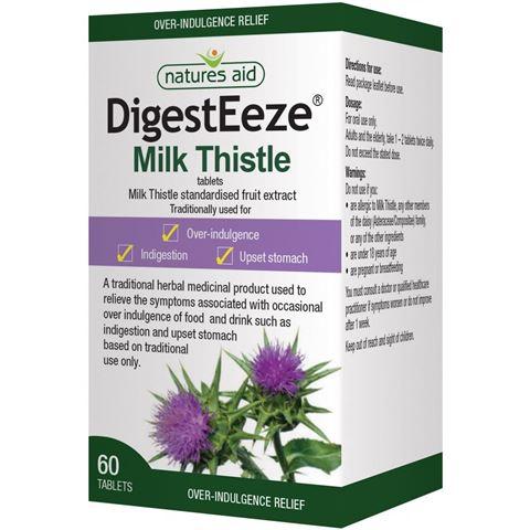 Natures Aid DigestEeze® 150mg (Milk Thistle - Γάλα από Γαιδουράγκαθο) 60 Ταμπλέτες