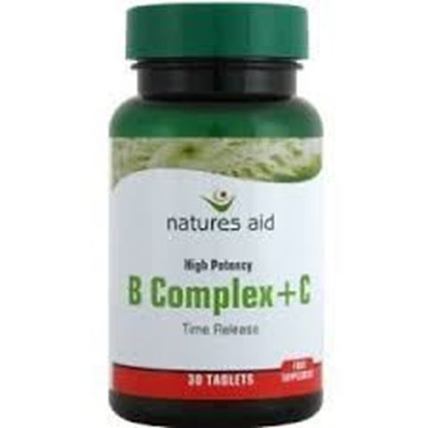 Natures Aid Vitamin B Complex & C High Potency (with Vitamin C) 30 Ταμπλέτες