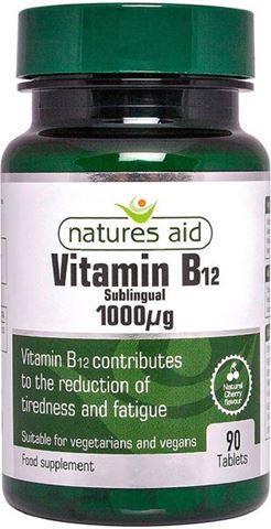 Natures Aid Vitamin Β12 1000μg (Υπογλώσσια) 90 Ταμπλέτες