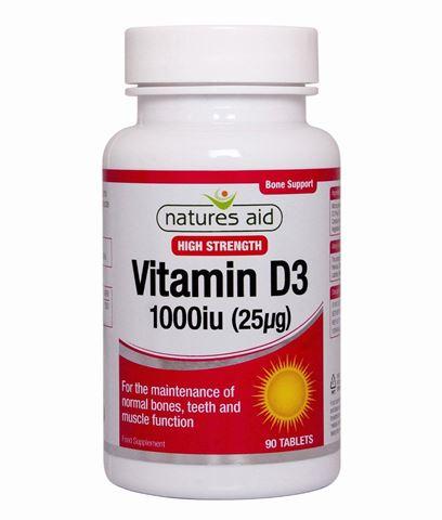 Natures Aid Vitamin D3 1000iu (25μg) 90 Ταμπλέτες