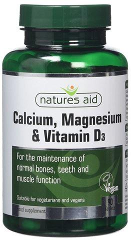 Natures Aid Calcium, Magnesium & Vitamin D3 (ασβέστιο, μαγνήσιο & D3), 90Ταμπλέτες