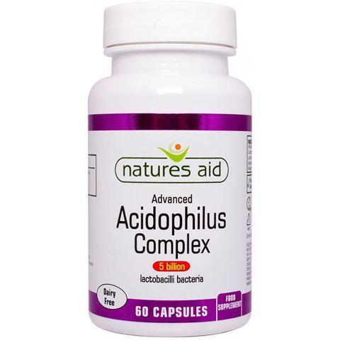 Natures Aid Acidophilus Complex 5 Billion Bacteria 60 Φυτικές Κάψουλες