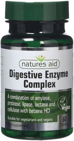 Natures Aid Digestive Enzyme Complex (with Betaine HCl) 60 Ταμπλέτες