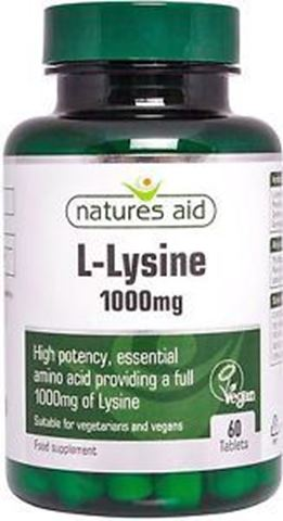 Natures Aid L-Lysine 1000mg, 60 Ταμπλέτες