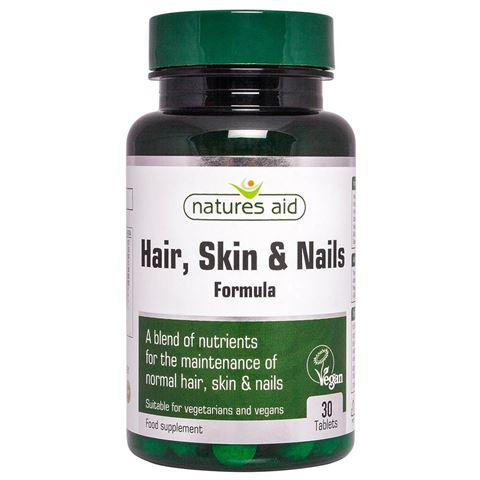 Natures Aid  Hair, Skin and Nails Formula 30 Ταμπλέτες