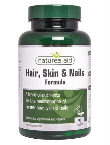 Natures Aid  Hair, Skin and Nails Formula 90 Ταμπλέτες