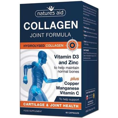 Natures Aid Collagen (Typre II) Joint Formula with vitamins & minerals 60 Κάψουλες