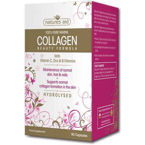 Natures Aid Collagen Beauty Formula with Vitamin C, Zinc & B-Vitamns, 90 Κάψουλες