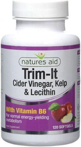 Natures Aid Trim-It  (Cider Vinegar, Kelp, Lecithin & Vitamin B6) 120 Softgels