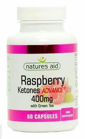 Natures Aid Raspberry Ketones Advance+ with Green Tea 60 Φυτικές Κάψουλες