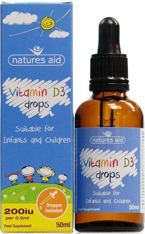 Natures Aid Vitamin D3 400iu Σταγόνες για Βρέφη & Παιδιά 50ml