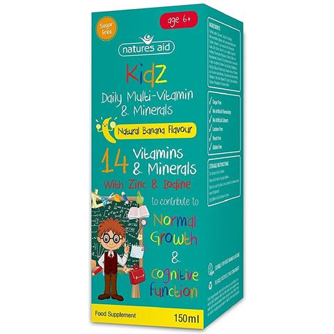 Natures Aid Kidz Multi-Vitamin & Minerals 150ml