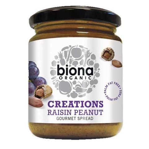 "Biona Φυστικοβούτυρο με Σταφίδα ""Creations"" 250γρ"