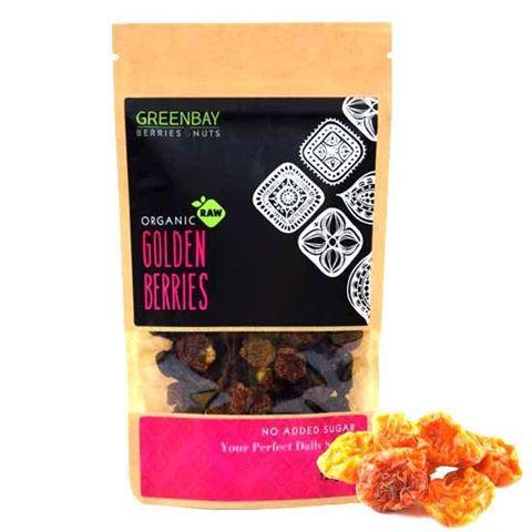 Greenbay Γκόλντεν μπέρις- Φυσσαλίς (Golden berries) Raw αποξηραμένα 125γρ